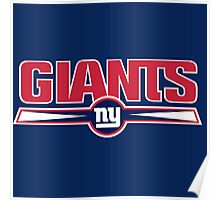 new york giants logo Poster