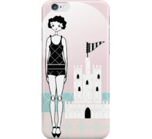 1920s Flapper Gatsby Girl Beach Sand Castle  iPhone Case/Skin