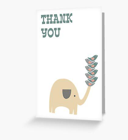 Thank-you card thanks elephant card Greeting Card