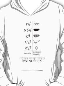 Sunny 16 Rule - Black INVERTED T-Shirt