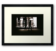 Shoe Shop Window Framed Print