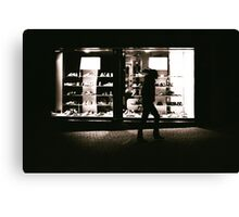 Shoe Shop Window Canvas Print