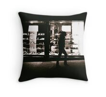 Shoe Shop Window Throw Pillow