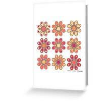 Apricot Foot Flowers Greeting Card