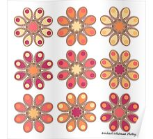Apricot Foot Flowers Poster