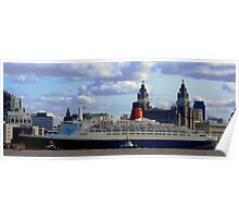 Qe2 at Liverpool 2008 Poster