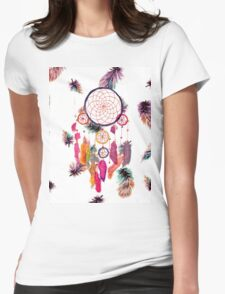Hipster Watercolor Dreamcatcher Feathers Pattern T-Shirt