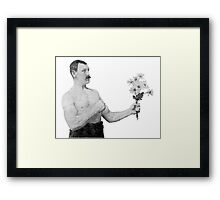 Chivalry, woman. Framed Print