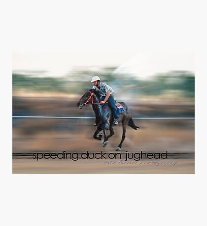 Speeding Duck on Jughead © Vicki Ferrari Photographic Print