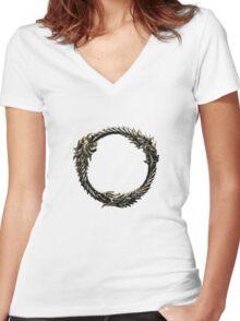 The Elder Scrolls: Online logo Women's Fitted V-Neck T-Shirt