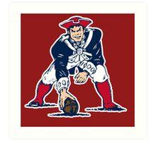 new england patriots logo 1 Art Print