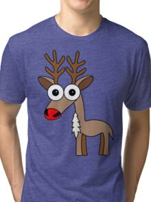 Rudolph (the red nosed reindeer) Tri-blend T-Shirt
