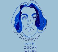 """""""shopping with Oscar Wilde"""" Womens Fitted T-Shirt"""
