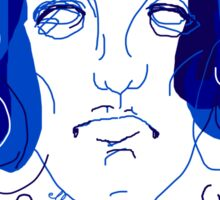 """shopping with Oscar Wilde"" Sticker"