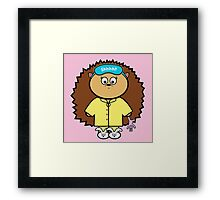 Meredith in her pjs Framed Print