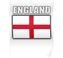 England, English Flag, Flag of St George, Pure & simple Poster