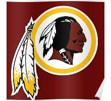 washington redskins logo Poster