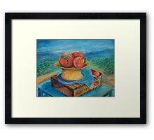 Peachs painting Framed Print