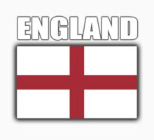 England, English Flag, Flag of St George, Pure & simple, on Black Kids Clothes