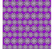 Purple Circle Design Photographic Print