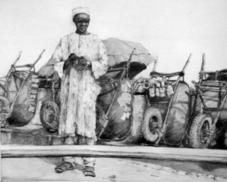 West African salesman by africanart