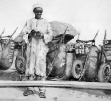 West African salesman by africanart