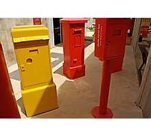 Old mail boxes Photographic Print