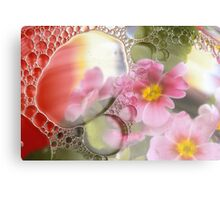 Primrose, oil and water abstract Canvas Print