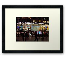 Champs Elysees By Night Framed Print