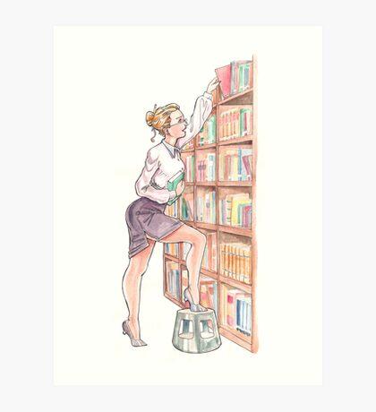 The Librarian Art Print