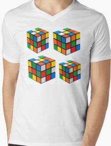 Rubiks Cuboid Mens V-Neck T-Shirt