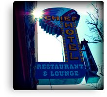 Chief Hotel Canvas Print