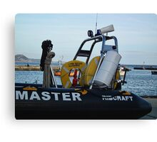 Part Of  Lyme's Harbour Masters Boat Canvas Print