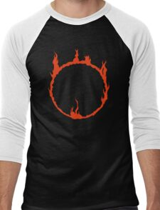 Dark Sign - Red  Men's Baseball ¾ T-Shirt