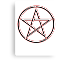 WICCA, Pentacle, modern Pagan, Witchcraft, religion. Canvas Print