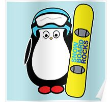 Hugo snowboarding Poster