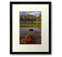Upper Yosemite, Clear Lake Framed Print