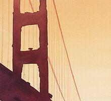 """Golden Gate"" Watercolor by Paul Jackson"