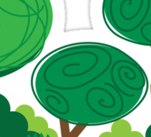 All curly trees Sticker