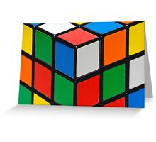 Colourful Cubes Greeting Card