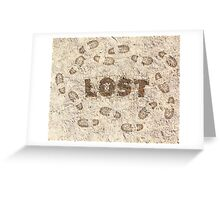 Lost. Greeting Card