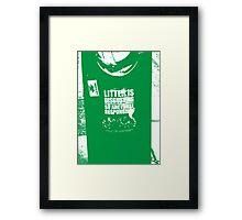 { Irish litter is disgusting } Framed Print