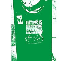 { Irish litter is disgusting } Photographic Print