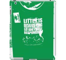 { Irish litter is disgusting } iPad Case/Skin