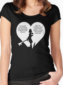 Kingdom hearts sora quote Women's Fitted Scoop T-Shirt