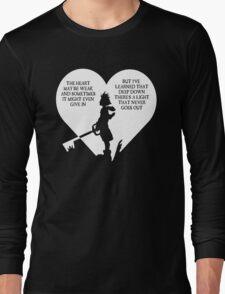 Kingdom hearts sora quote Long Sleeve T-Shirt