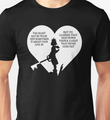 Kingdom hearts sora quote Unisex T-Shirt