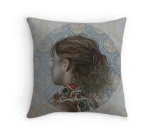 """La ragazza col foulard a pois"" ,2009 Throw Pillow"