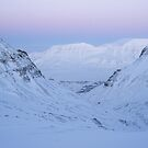 Winter day in Longyearbyen by Algot Kristoffer Peterson