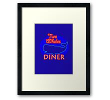 "Two Whales Diner ""So Damn Touristy"" Framed Print"
